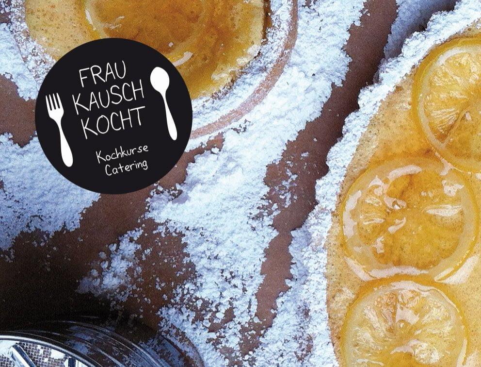 Grafik-Design Werbemittel Referenz Frau Kausch kocht