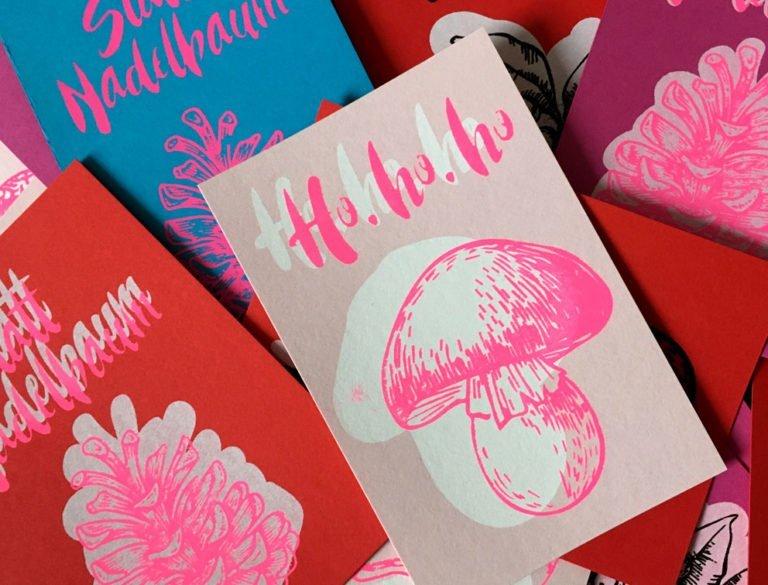 Grafik-Design Werbemittel Referenzen Weihnachtskarten Aktion