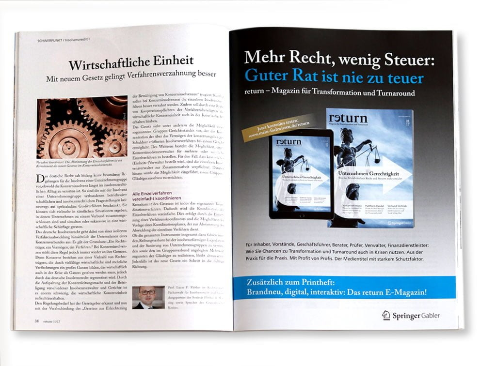 designplus Referenz: Magazin return