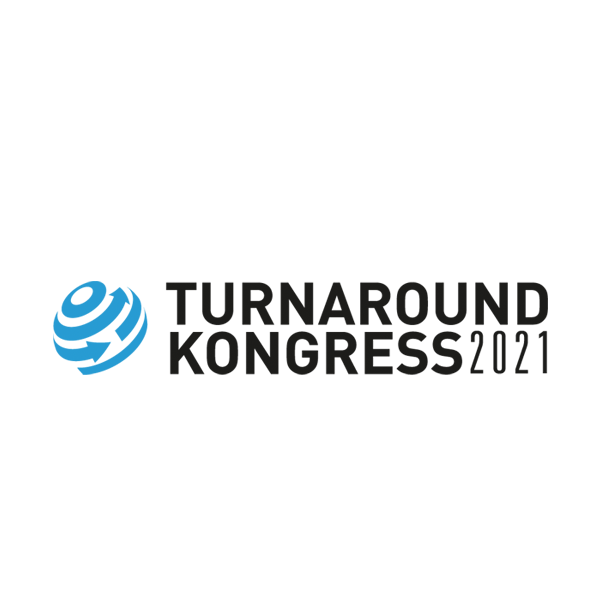"""Kunden und Branchen Logo designplus """"Turnaroundkongress"""""""