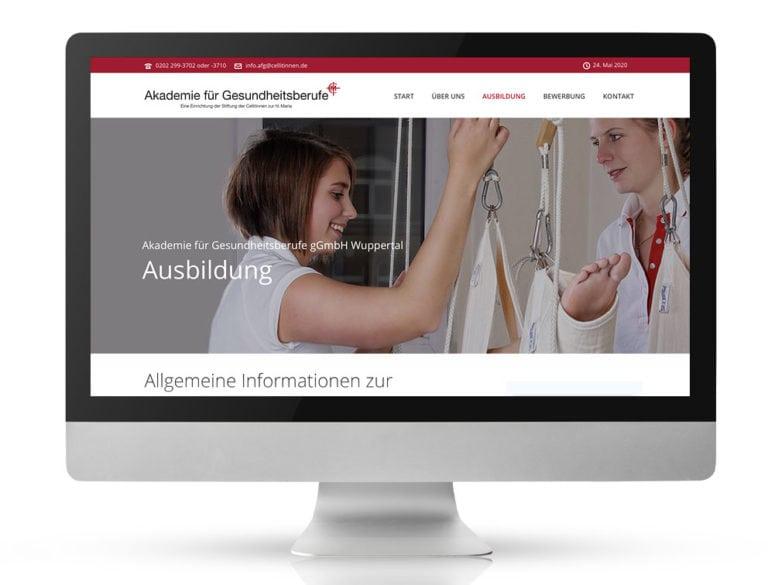 Webdesign Referenzprojekt designplus, Köln für das AFG Wuppertal