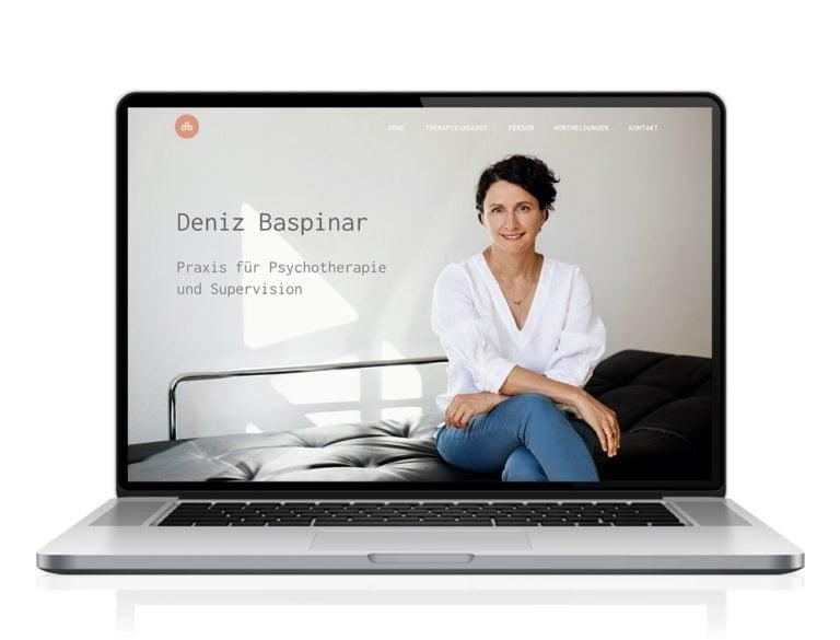 Webdesign designplus Köln Referenz - Responsive Website für Psychotherapeutin Deniz Baspinar