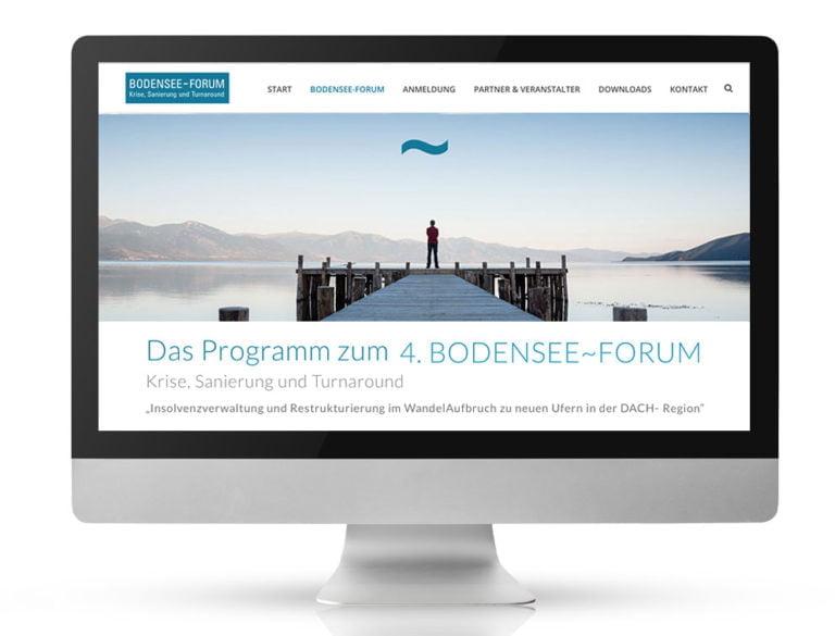 Webdesign Referenzprojekt designplus, Köln für das Bodensee-Forum - Sanierung und Turnaround