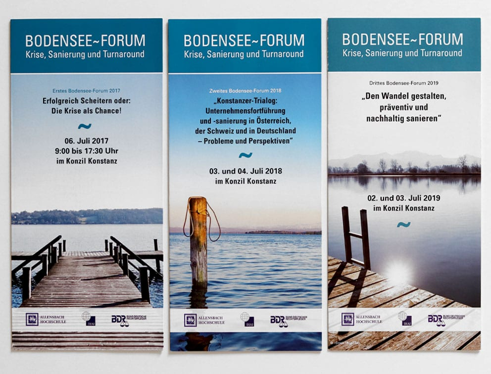 Grafik-Design Print Referenz Bodensee-Forum Werbemittel