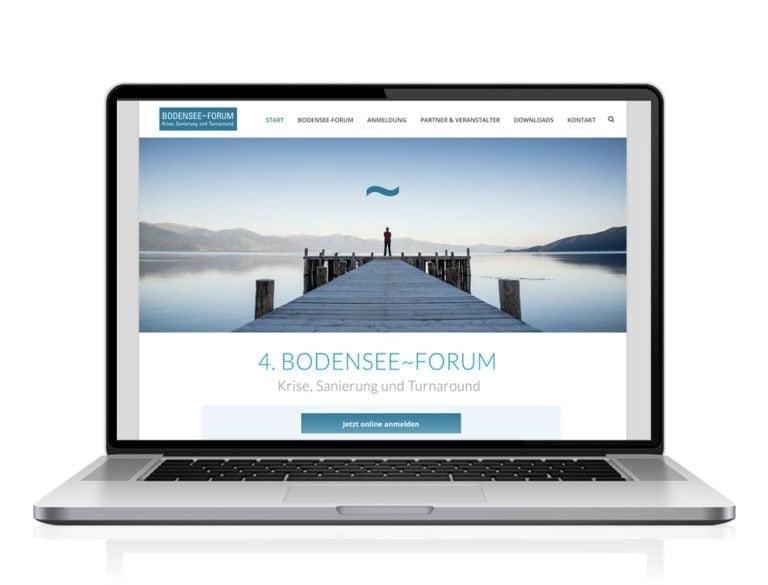 Webdesign designplus Köln Referenz - Responsive Website für das Bodensee-Forum Krise und Insovenz vom DIAI