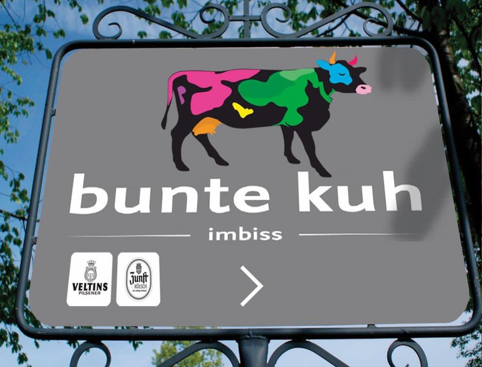Print Grafik-Design Referenz Bunte Kuh Edelimbiss Bonn
