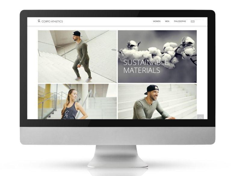 Webdesign Referenzprojekt designplus, Köln für den Webshop von Corpo Athletics
