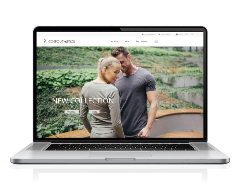 Webdesign designplus Köln Referenz - Responsive Website für den Webshop von Corpo Athletics Sport-Mode