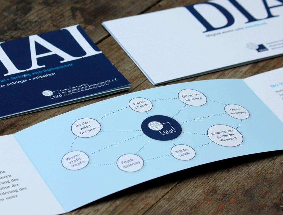 Print Grafik-Design Referenz DIAI Geschäftsausstattung Köln
