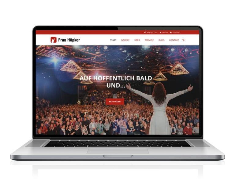 Webdesign designplus Köln Referenz - Responsive Website für Frau Höpker Mitsingkonzerte