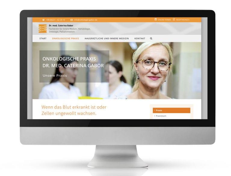 Webdesign Referenzprojekt designplus, Köln für die Onkologische Praxis Dr. Gabor Köln-Mühlheim