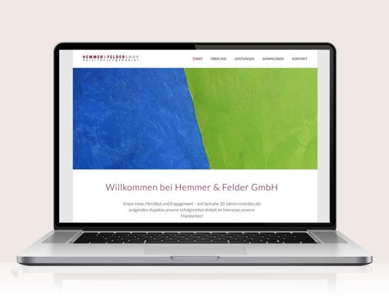 Webdesign designplus Köln Referenz - Responsive Website für die Versicherungsmakler Hemmer & Felder Köln