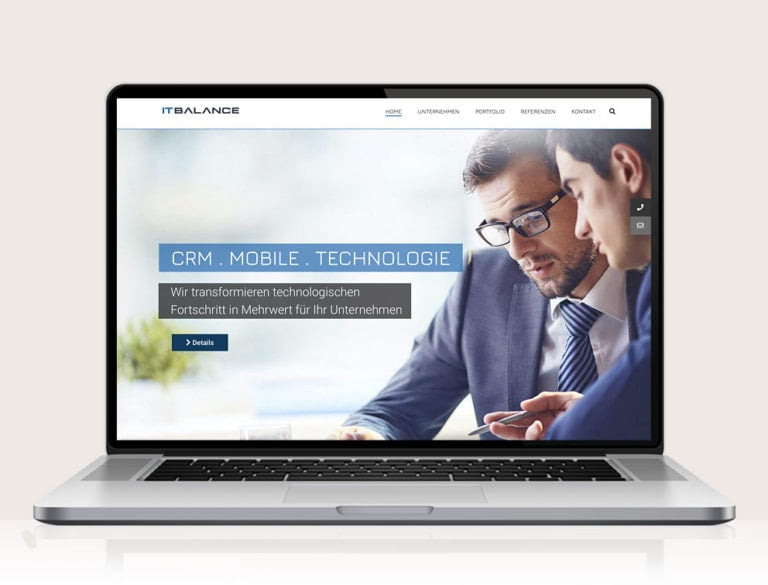 Webdesign designplus Köln Referenz - Responsive Website für die Software-Entwickler ITBalance