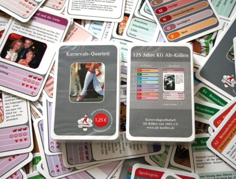 Design-Werbemittel - Grafik-Design Print Referenz Karnevalsquartett Werbemittel