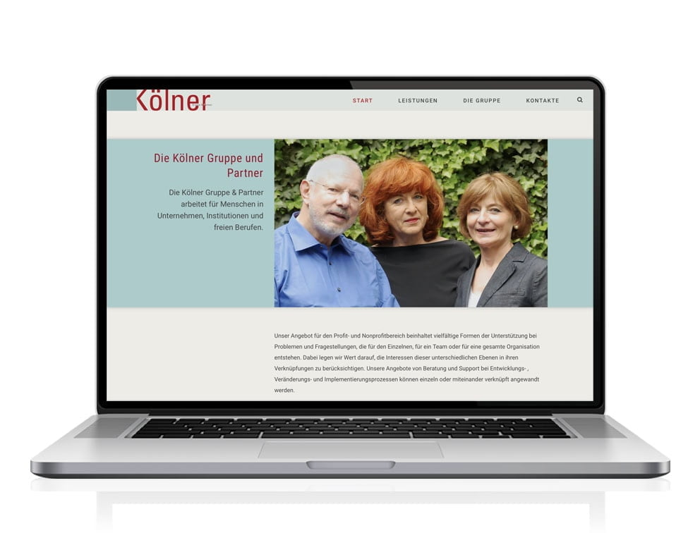 Webdesign designplus Köln Referenz - Responsive Website für die Kölner Gruppe und Partner Köln