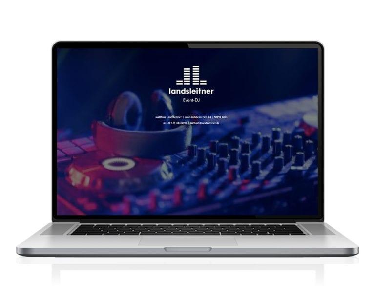 Webdesign designplus Köln Referenz - Responsive Website für DJ Landsleitner Köln auf CMS WordPress