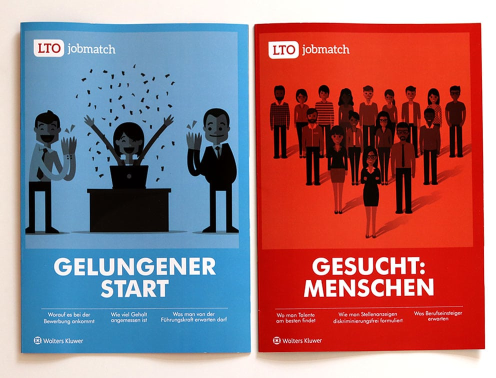 Grafik-Design Broschüre Magazin Referenz LTO-Jobmatch