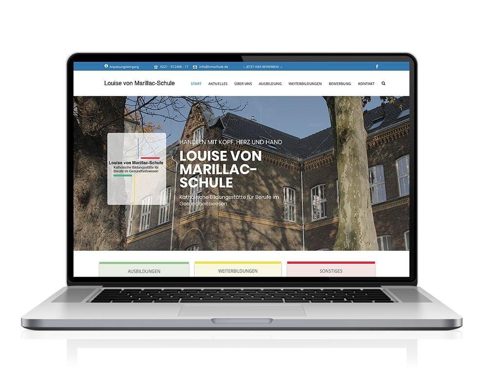 Webdesign designplus Köln Referenz - Responsive Website für die Krankenpflegeschule in Köln Louise von Marillac