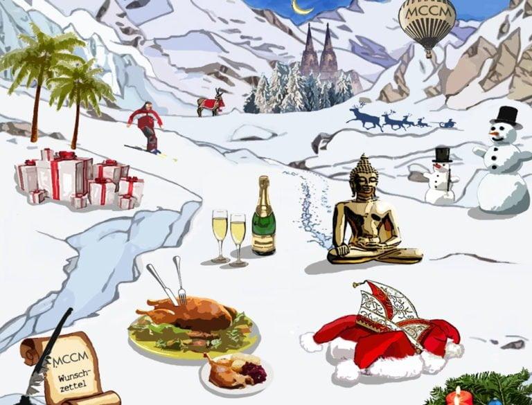 Design-Werbemittel - Grafik-Design Print Referenz Illustration Weihnachtskarte Werbemittel
