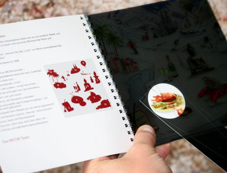 Design-Werbemittel - Grafik-Design Print Referenz Weihnachtskarte Werbemittel