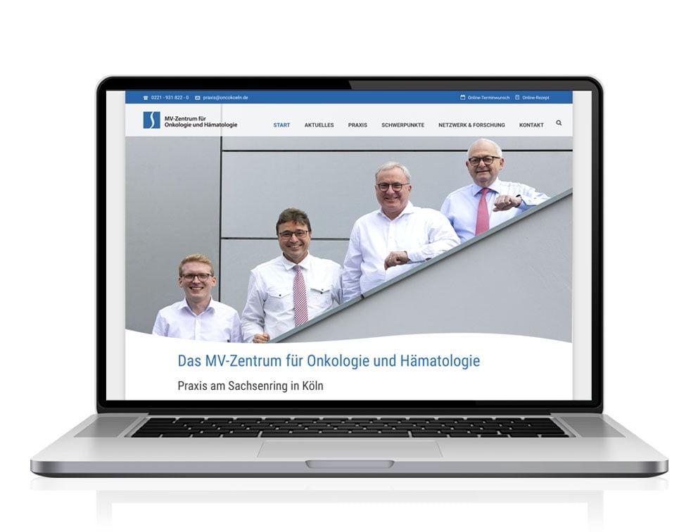 Webdesign designplus Köln Referenz - Responsive Website für das MVZ für Onkologie und Hämatologie in Köln