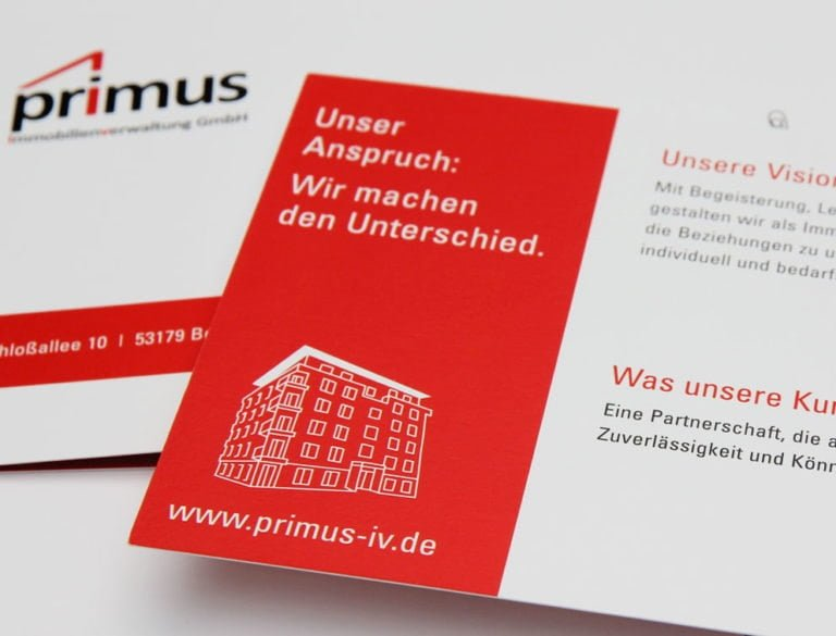 Print Grafik-Design Referenz Immobilienverwaltung Bonn