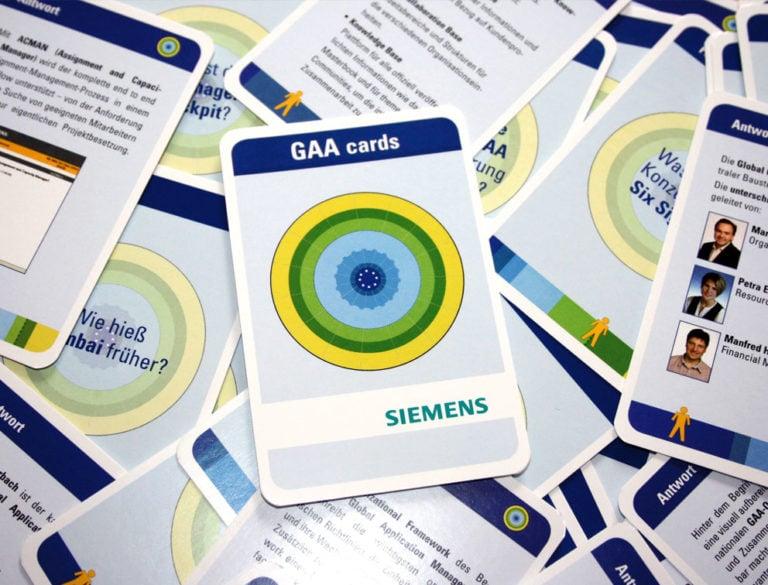 Design-Werbemittel - Grafik-Design Print Referenz Quartett Siemens Werbemittel