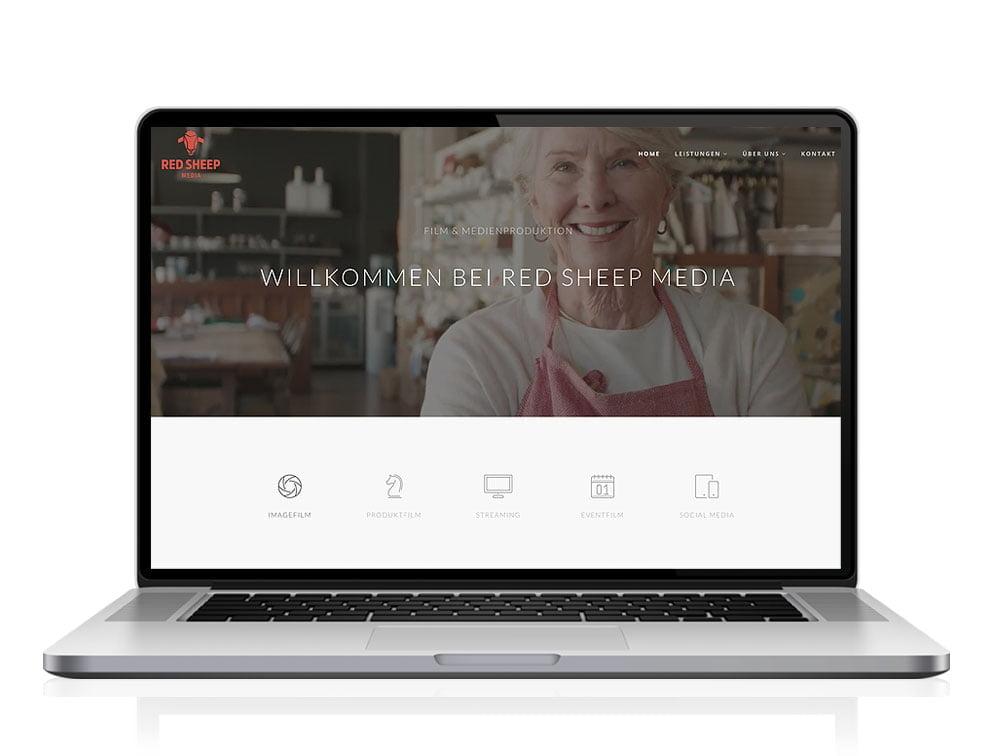 Webdesign designplus Köln Referenz - Responsive Website für die Filmproduktionsfirma Red Sheep Media in Köln