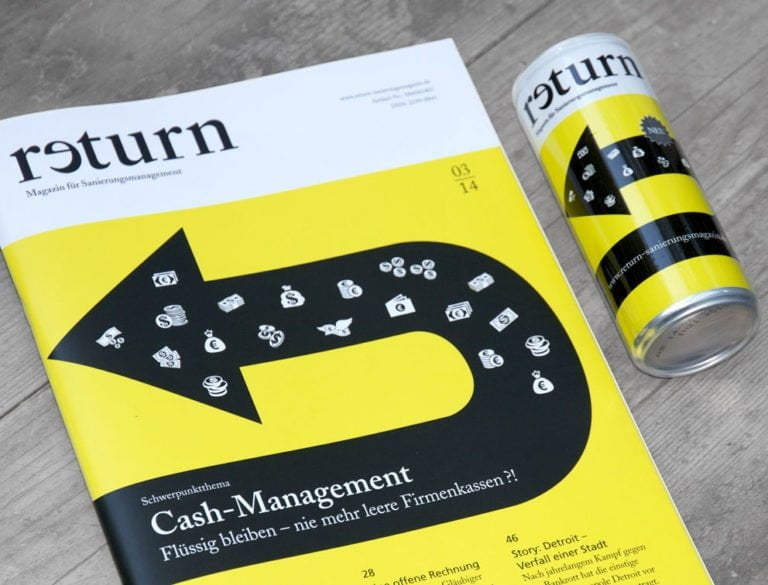 Design-Werbemittel - Grafik-Design Print Referenz Magazin return Werbemittel