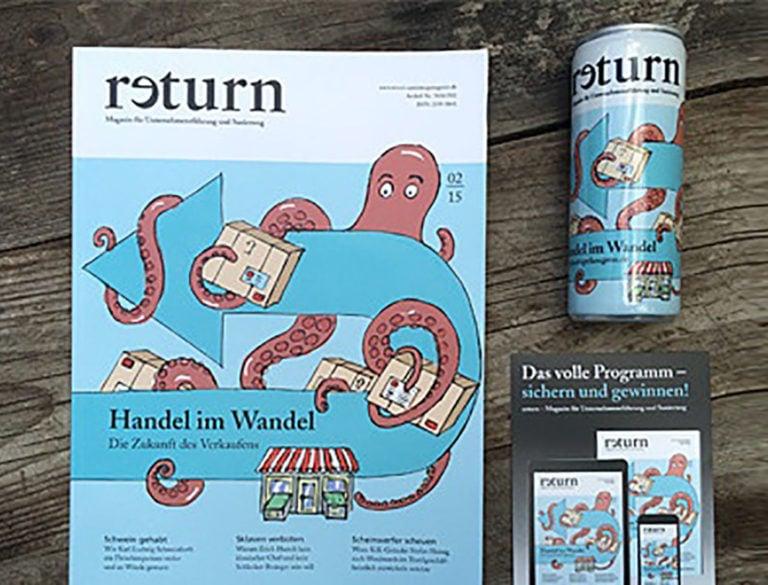 Cover-Illustration für das Titelbild der Zeitschrit return