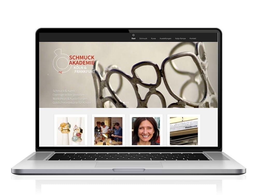 Webdesign designplus Köln Referenz - Responsive Website für die Schmuckakademie Katja Kempe