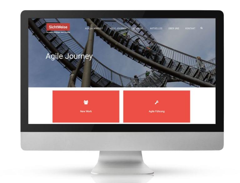Webdesign Referenzprojekt designplus, Köln für den Unternehmensberater und Coach SichtWeise Horst Pütz