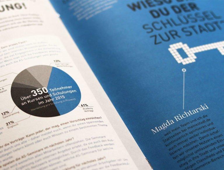 Print Grafik-Design Referenz Stadlichter Mitarbeitermagazin Köln