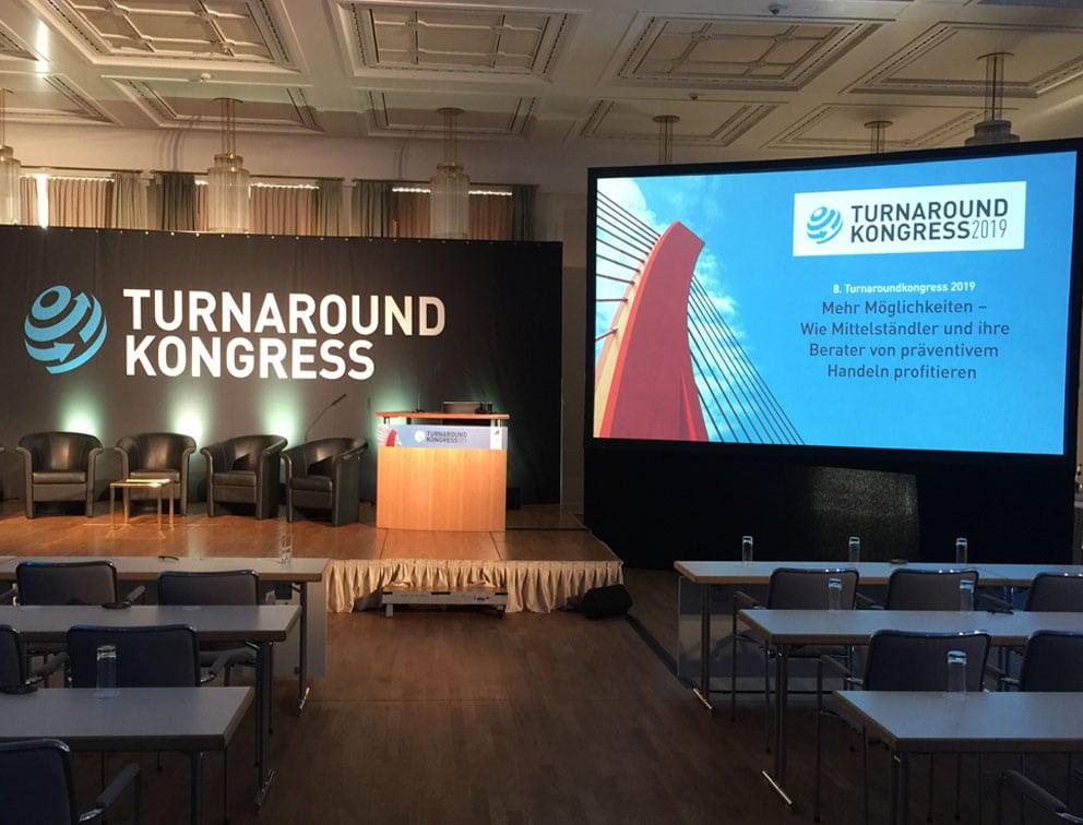 Werbemittel Grafik-Design Referenz Turnaround Kongress