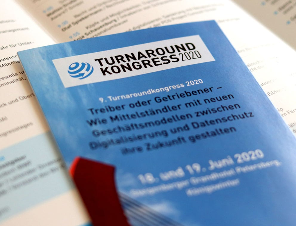 Werbemittel Grafik-Design Referenz Turnaround Kongress
