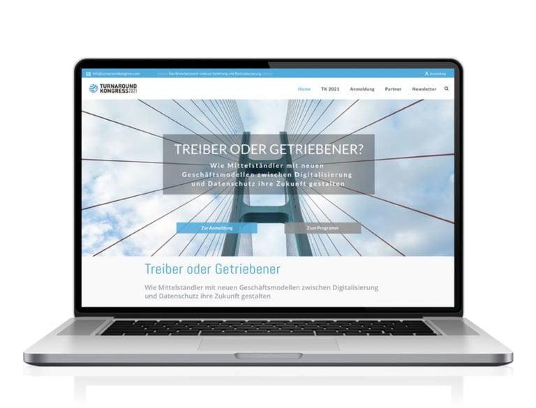 Webdesign designplus Köln Referenz - Responsive Website für den Turnaroundkongress Krise und Insolvenz vom DIAI