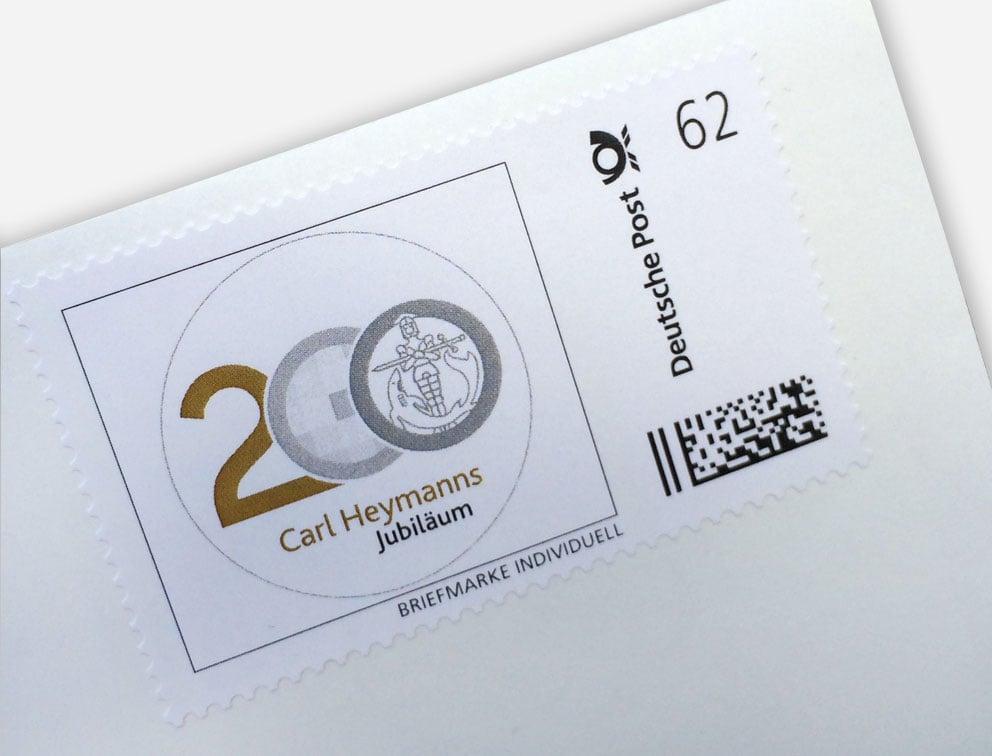 Werbemittel Briefmarken Jubiläumsaktion Carl Heymanns Verlag