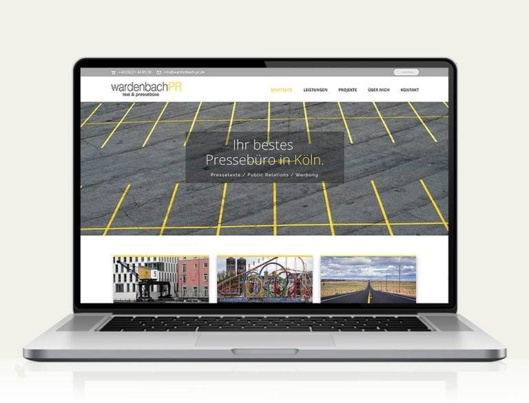 Responsive Website für Wardenbach PR Köln