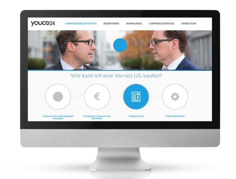 Webdesign Referenzprojekt designplus, Köln für youco24