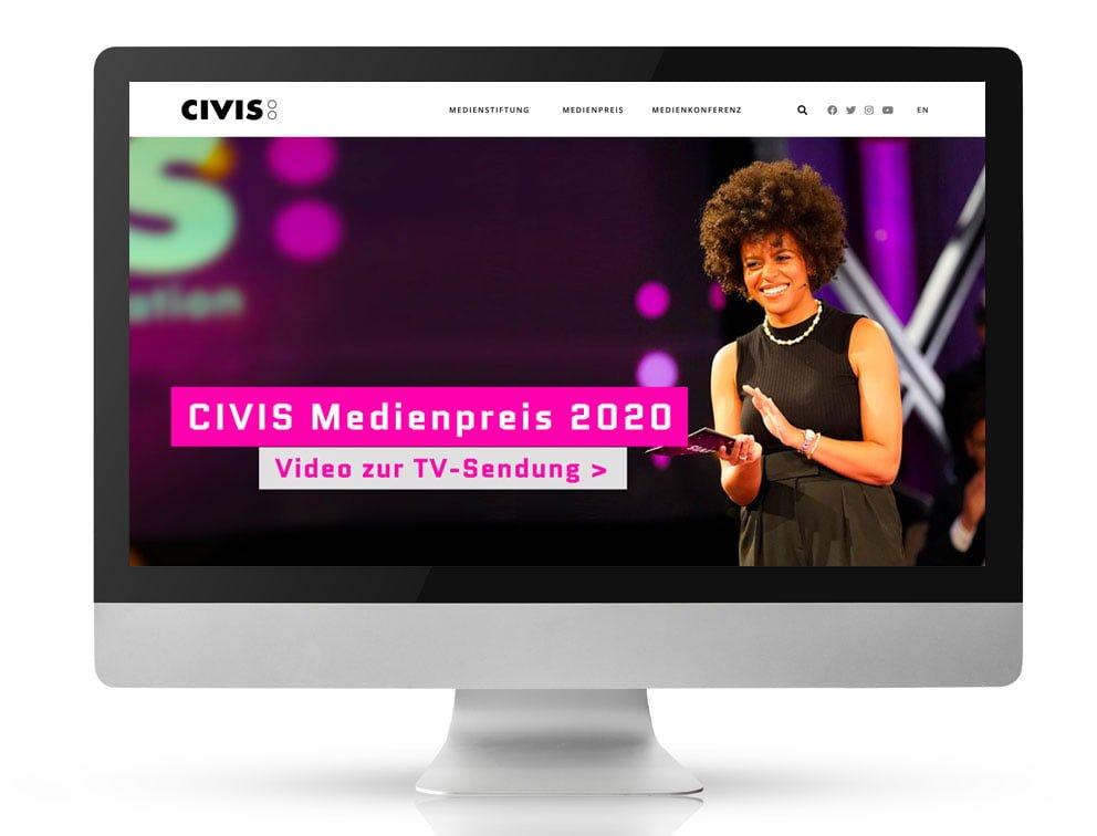 Webdesign CIVIS Medienstiftung